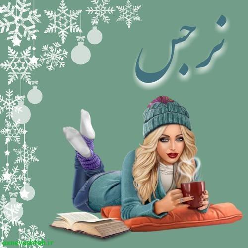 لوگوی اسم دخترانه طرح زمستان