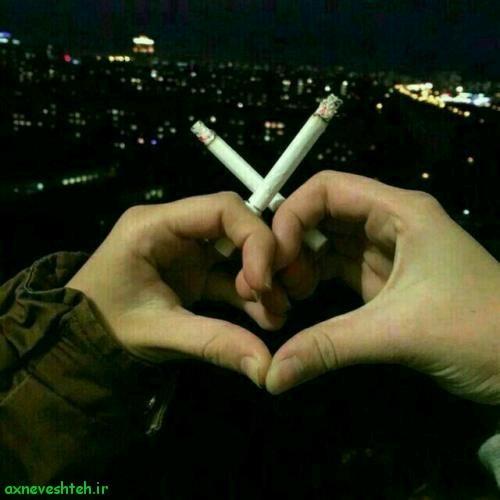 عکس دختر تنها با سیگار