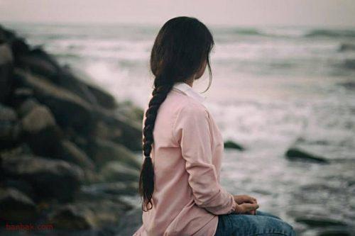 عکس و متن غمگین دخترانه با تکست غم و گریه دار,عکس نوشته غمگین دخترانه می دونم بر نمیگردی