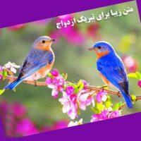 پیام تبریک ازدواج روی کارت هدیه – متن کوتاه تبریک ازدواج روی کارت هدیه بانکی