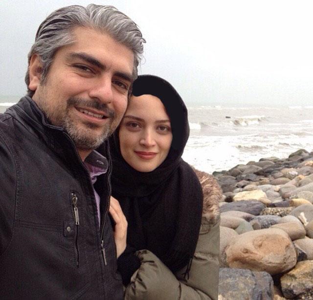 عکس عاشقانه دو نفره کنار ساحل با جملات و نوشته های عاشقانه زیبا