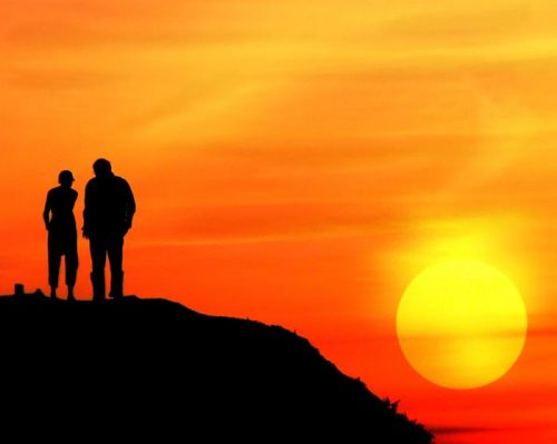 عکس نوشته پروفایل دو نفره کنار دریا , عکس پروفایل عاشقانه دو نفره دریا