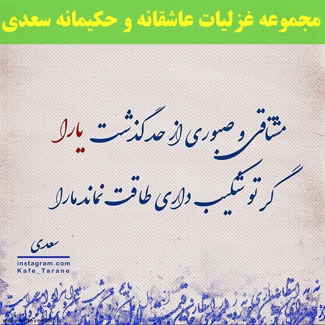 مجموعه غزلیات عاشقانه و حکیمانه سعدی شیرازی