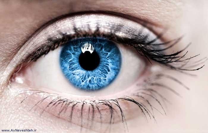 عکس نوشته زیبا چشم برای پروفایل - عکس چشم مخصوص پروفایل