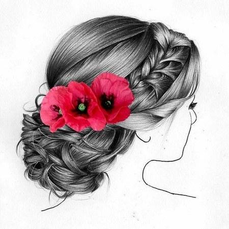 عکس پروفایل جدید نقاشی شده دخترانه
